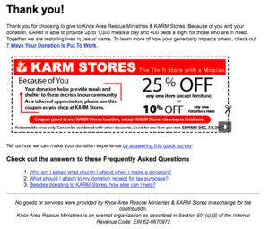 thank you e-mail